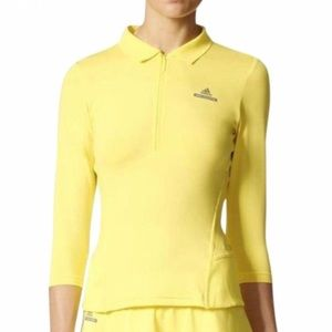 adidas by Stella McCartney Yellow Polo Top L